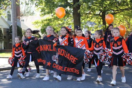 Franklin Square's Warrior Cheerleaders marched the parade route.