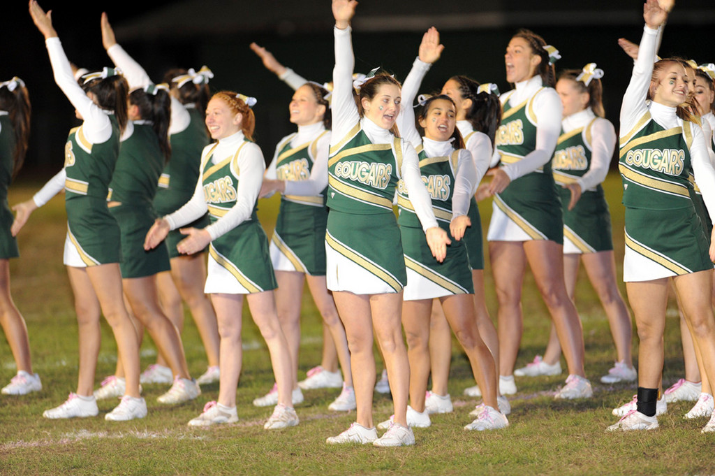 The Kennedy High School cheerleaders entertained the crowd during Homecoming.