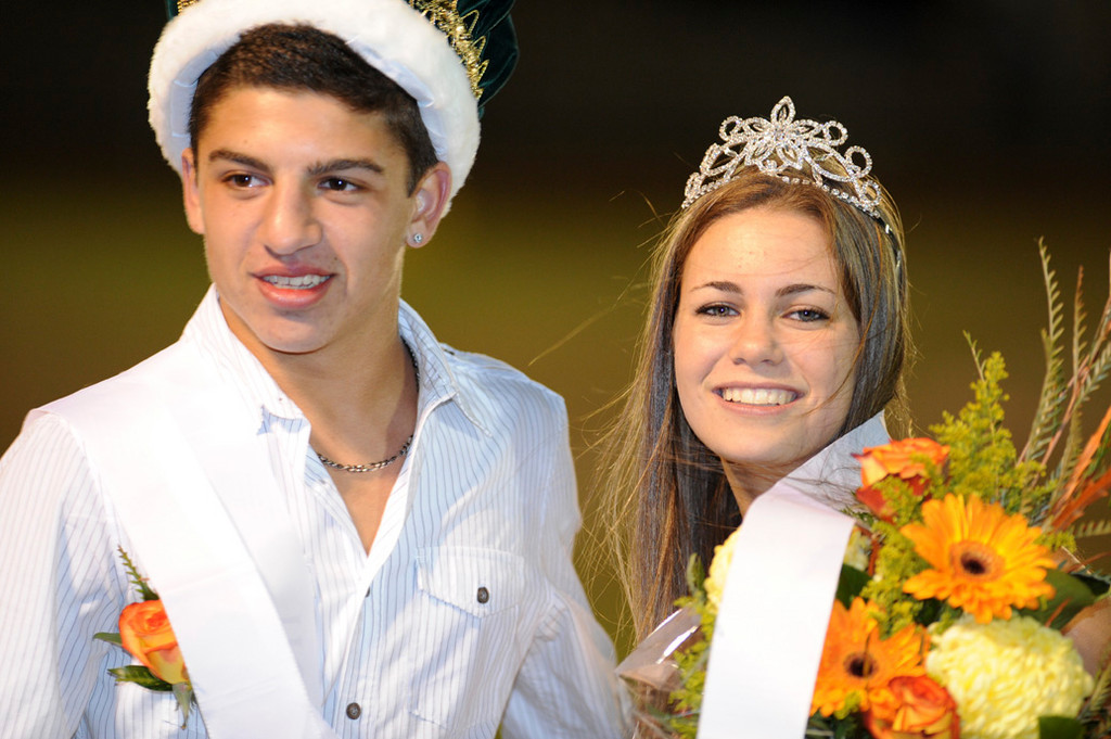 Seniors Troy Lampert and Chelsea Simon were crowned Kennedy's Homecoming king and queen.