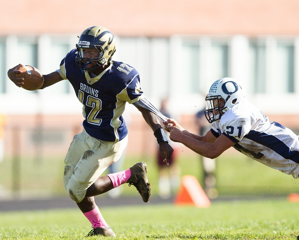Baldwin's Jovaun Tomlinson had 145 yards and two touchdowns.