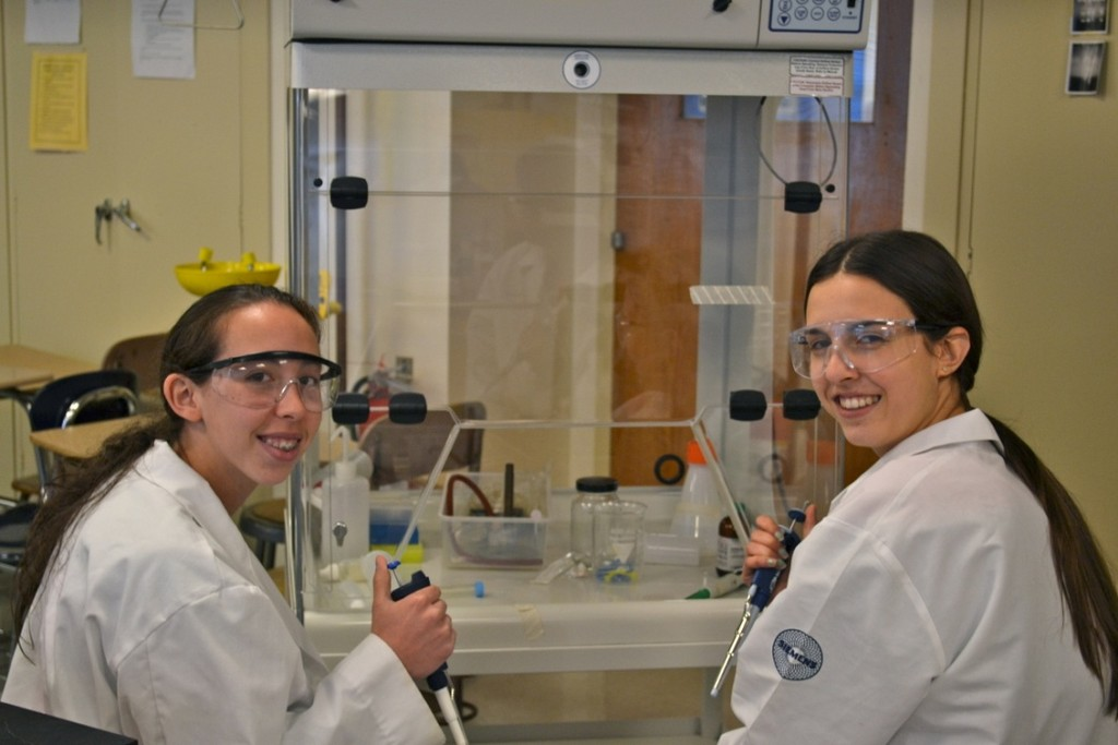 Two of Hewlett's five semifinalists, Kathryn Hochberg, left, and Daphne Superville, have also received the Stockholm Junior Water Prize and were finalists to the 2011-'12 ISEF (International Science and Engineering Fair).