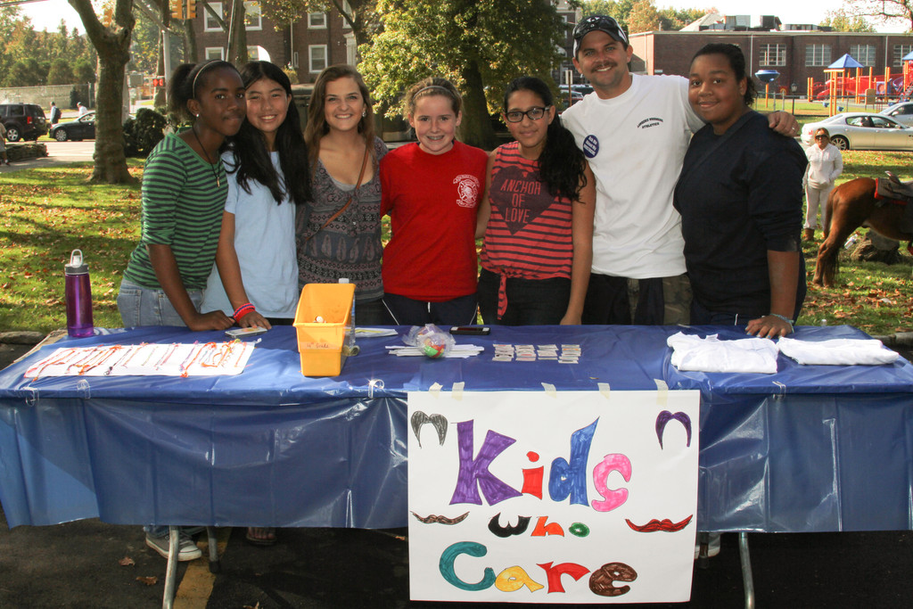 LWA students enjoyed the various activities at the fair, including games, food and class booths.