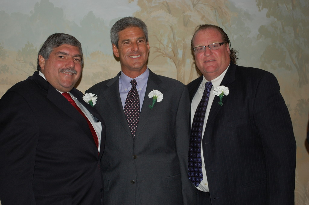 The Five Towns Community Chest, represented by Bob Block, Eric Keslowitz and Steven Spiro, was honored for its support of PCC.