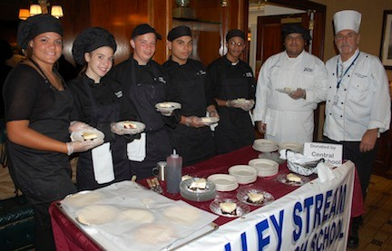 Students from the Valley Stream Central High School District's culinary program served dessert at A Tasteful Evening.