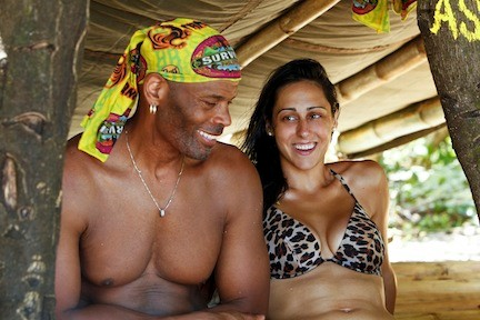 "Roberta 'RC' Saint-Amour chatted with fellow Tandang tribe member Artis Silvester, of Louisiana, during filming of ""Survivor: Phillipines"" earlier this year."