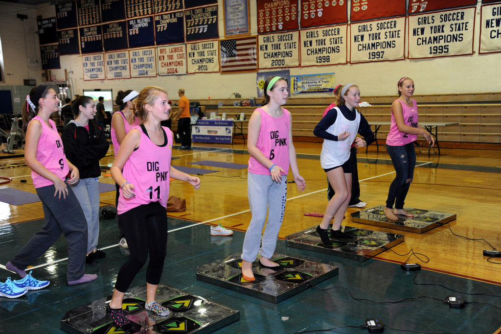 Dance Dance Revolution is just one fun way students can stay fit and healthy.
