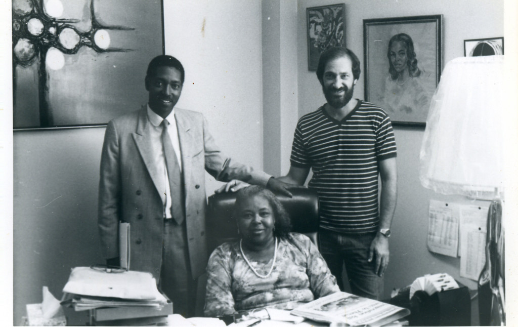 This photo was taken in the late 1970s or early 1980s, according to the center�s director, Peter Visconti. From left are former Associate Director Jonathan Davis, former Executive Director Sadie Scott and Visconti.