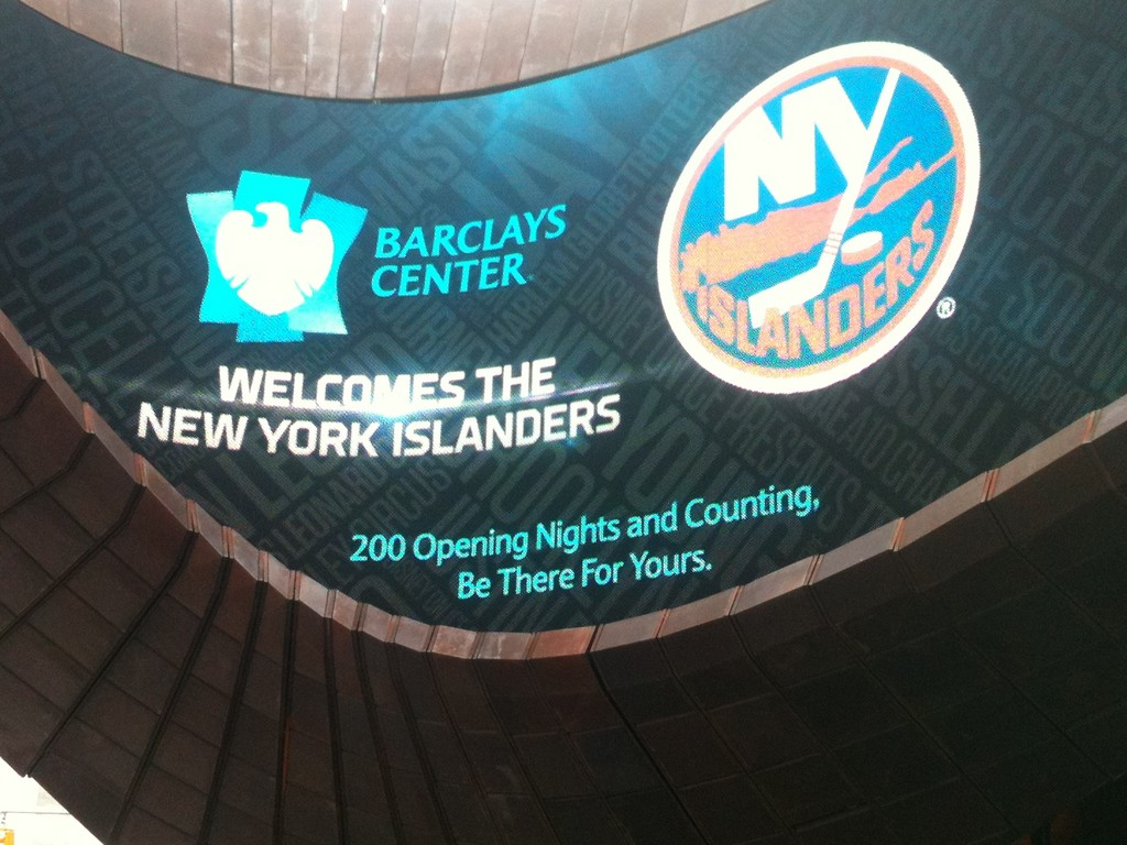 The Islanders and Barclay's Center logos will be seen together for a long time.