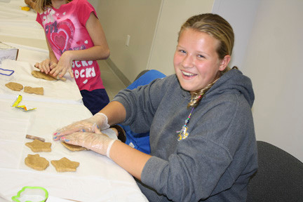 Emily Jackson created different shaped dog treats to donate to a local animal shelter.