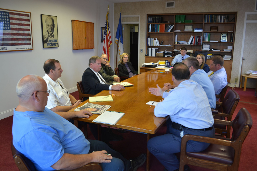 City Manager Jack Schnirman met with city officials to discuss the city's hurricane preparations.