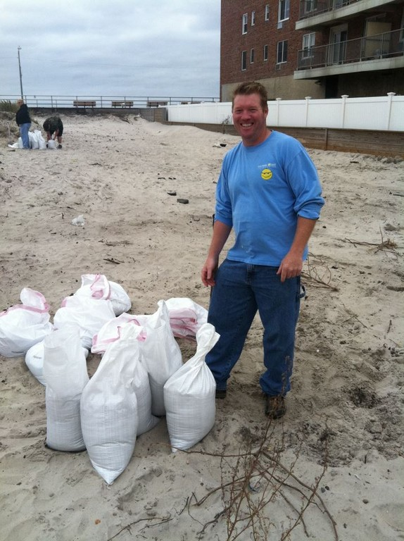 Many residents are choosing to brave the storm despite a mandatory evacuation order. The gave away 20,000 sandbags.
