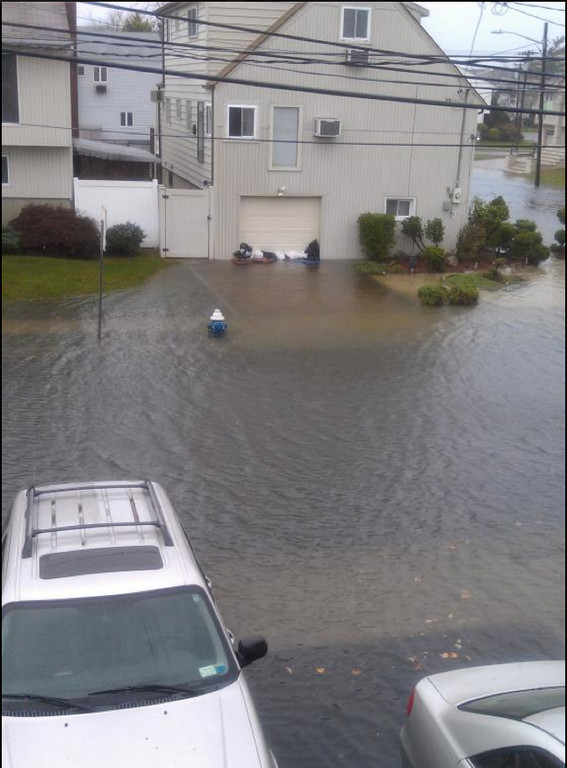 Carell Boulevard in Oceanside was under water this morning.