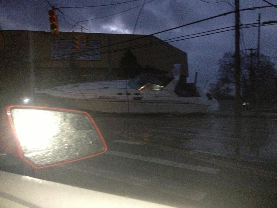 A boat was washed up onto Austin Boulevard in Island Park. It was just part of the devastation of Hurricane Sandy.