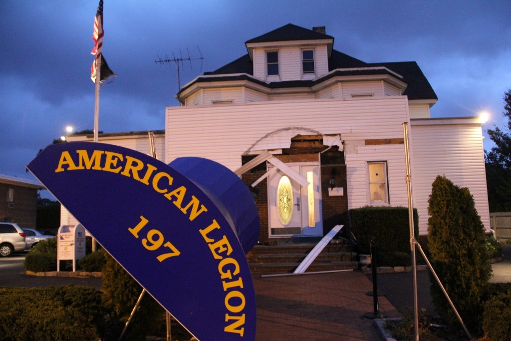 Rockville Centre's American Legion post suffered damage from Sandy.