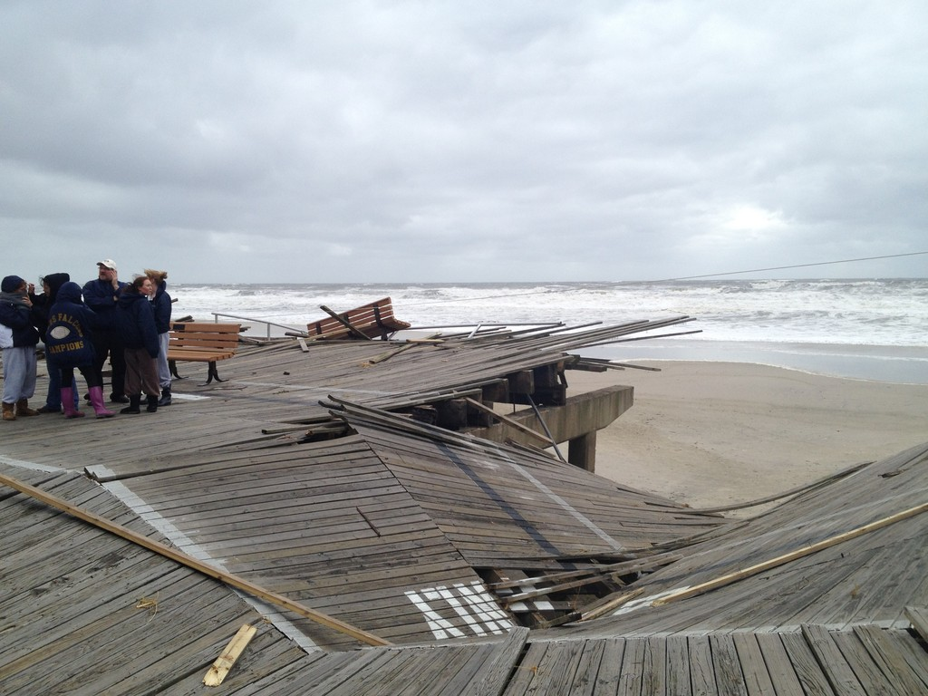 Hurricane Sandy destroyed sections of the Long Beach boardwalk.