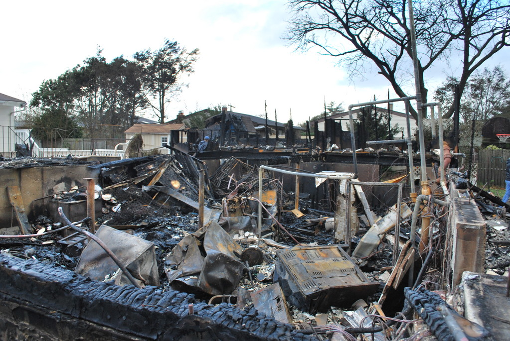This south Bellmore home burned to the ground amid Sandy.