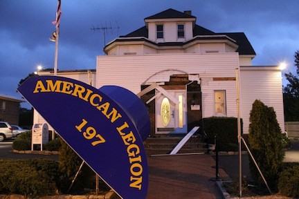 The American legion Post in Rockville Centre suffered a blast from Sandy.