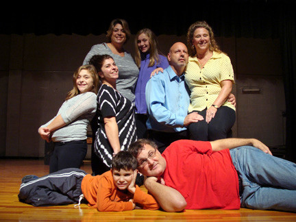 At home on the stage: Family members find acting in local productions a way to connect with each other in ways that they cannot otherwise do. Pictured clockwise from top left are Reneé Hugues and her daughter, Jordan; Rico and Reneé Socci; Andrew Upbin and his son, Ben; and Dana Feminella with her daughter, Marissa.