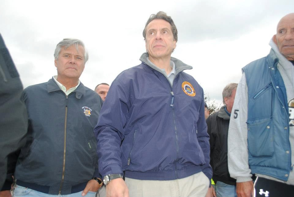 Gov. Andrew Cuomo held a press conference in Long Beach on Saturday.