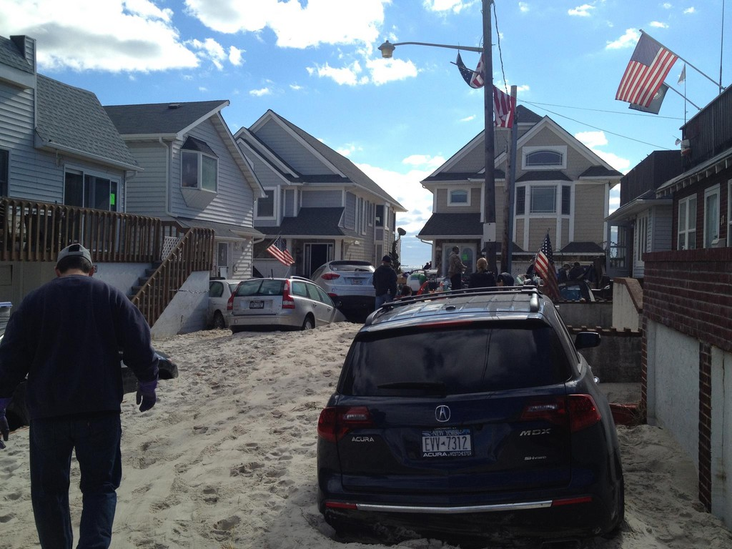 Residents who live on Louisiana Street, south of West Beech Street,have begun to clear out their basements of debris.