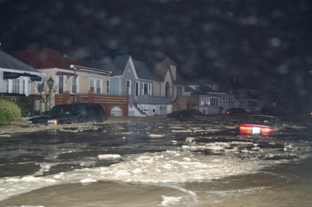 The West End, like many parts of Long Beach, was turned into a river when Hurricane Sandy hit.