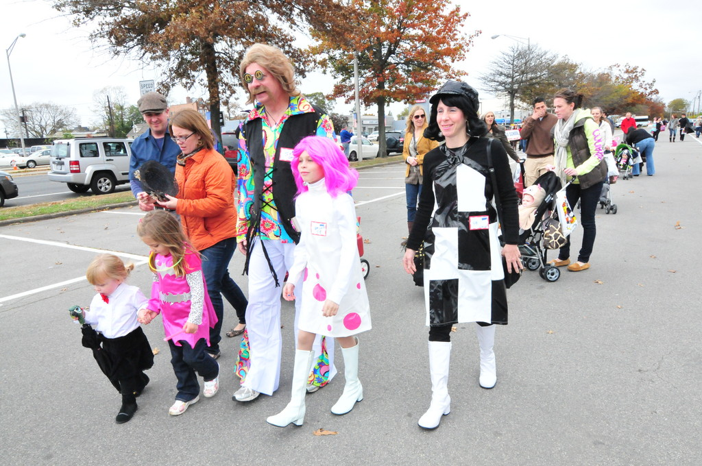 The Getty family was one of hundreds of Rockville Centre families to turn up for the Ragamuffin parade.
