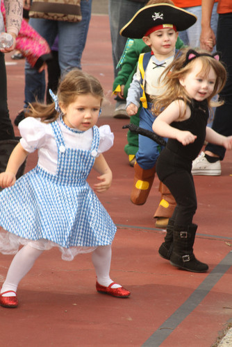 "Where's toto?  A cute ""Dorothy"" and a kitty cat danced to ""Glee"" songs in East Rockaway."