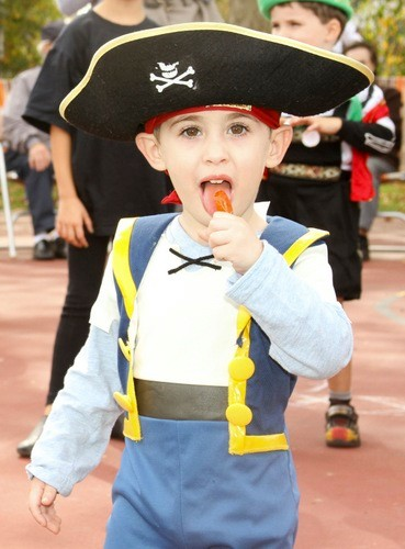 Michael Delpezzo 2, as a pirate with a sweet tooth in East Rockaway.