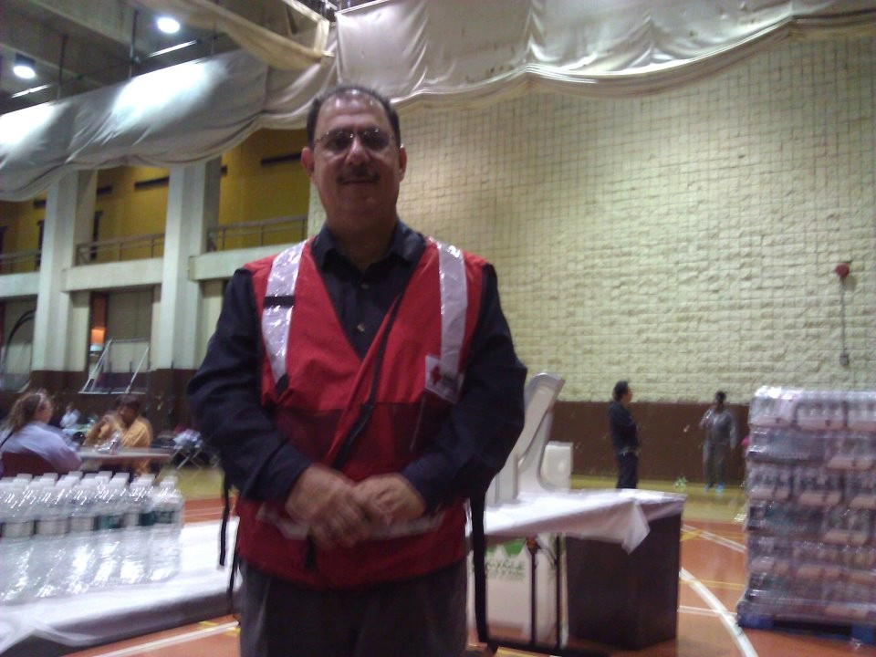 Malik Abid, of Valley Stream and Nassau County's Human Right commissioner, volunteered at a Red Cross shelter during Hurricane Sandy.