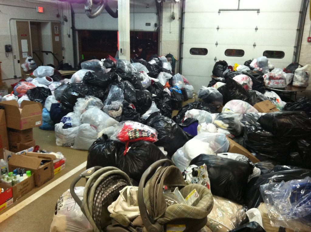 East Meadow residents delivered hundreds of items to the department's disaster relief drive.