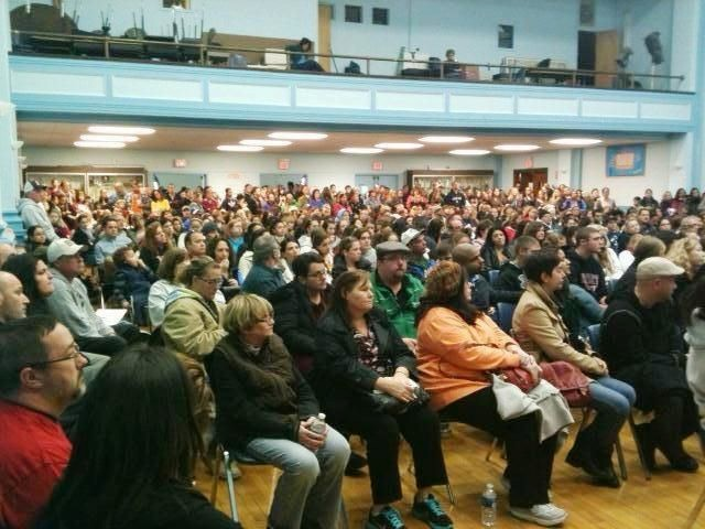 The East Rockaway School District held a special meeting to discuss plans for schooling its children.
