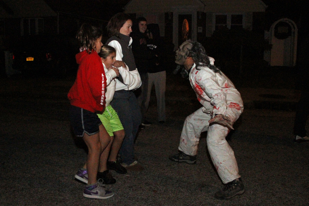 Actors terrorized victims, in this case Vanessa Tortorella, Molly Hughes and Kelly Tortorella.