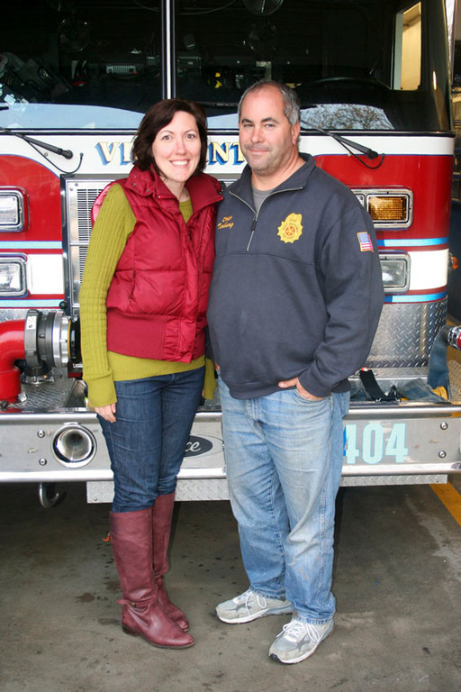 Elizabeth daitz and Fire Chief Steve Torborg were instrumental in helping East Rockaway residents during and after Hurricane Sandy.