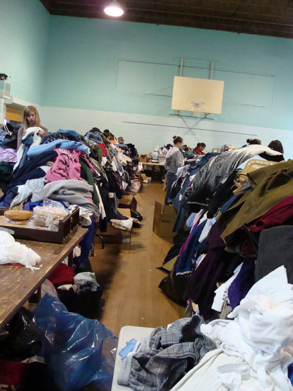 Bethany church, on Main Street, is now housing clothes and supplies for those in need.