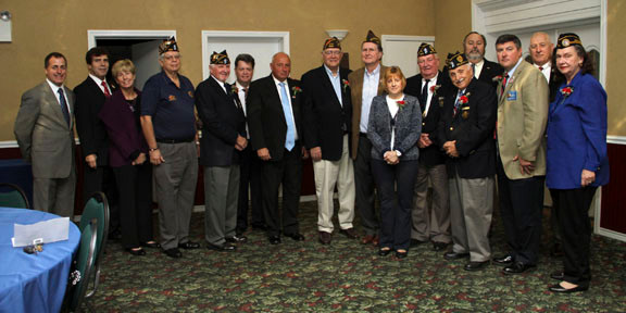"Assemblyman Brian Curran, left, honored special veterans at his 2nd annual ""Hall of Honor"" ceremony held at the Lynbrook Knights of Columbus last Sunday."
