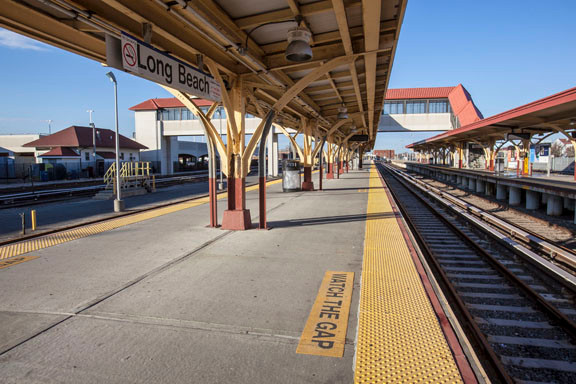 The Long Beach LIRR station sat abandoned before trains started running on a limited schedule.