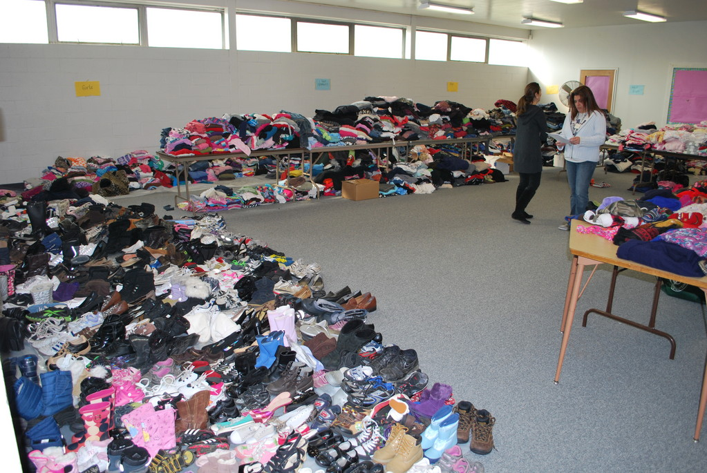 The Bellmore-Merrick Central High School District held a collection drive that brought in hundreds of donations for local victims of Hurricane Sandy.