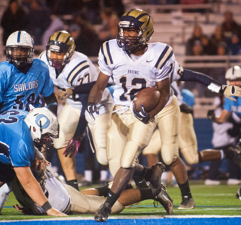 Baldwin�s Jovaun Tomlinson rushed for 160 yards and three scores against Oceanside in last week�s Conference I semifinal victory.