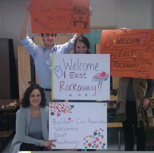 The Baldwin Civic Association welcomed East Rockaway's students.