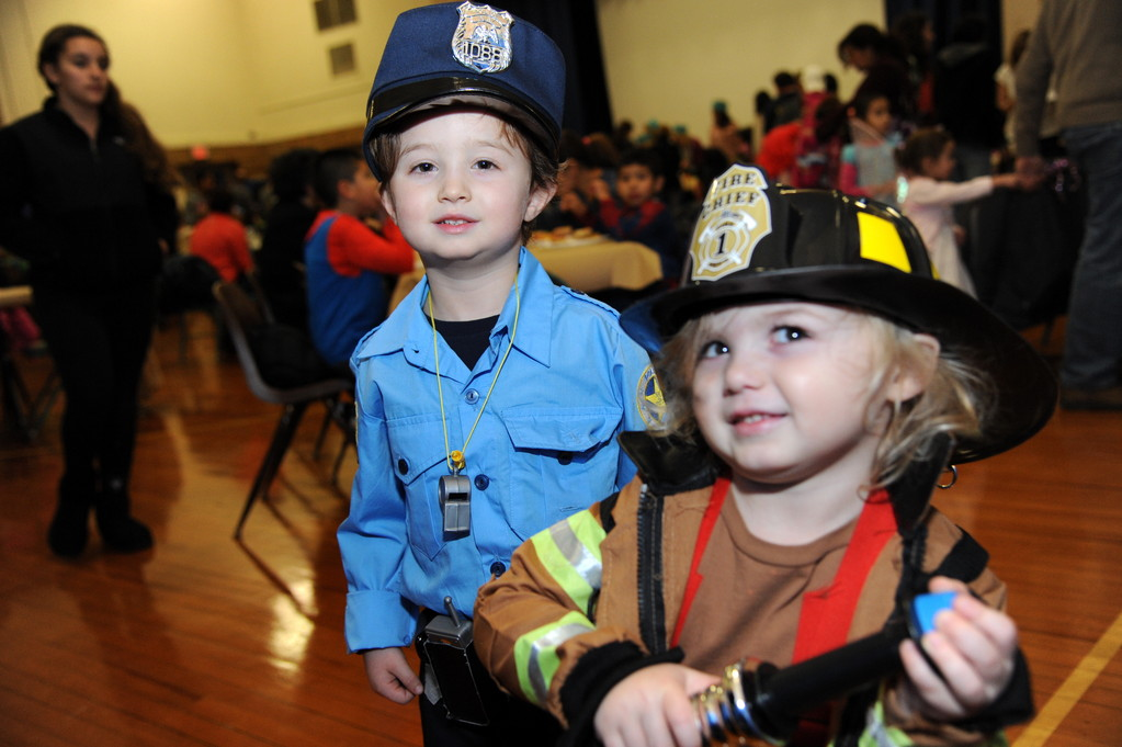 Maverick Cain, 5, and Jaxon, 3, are ready to help in an emergency.