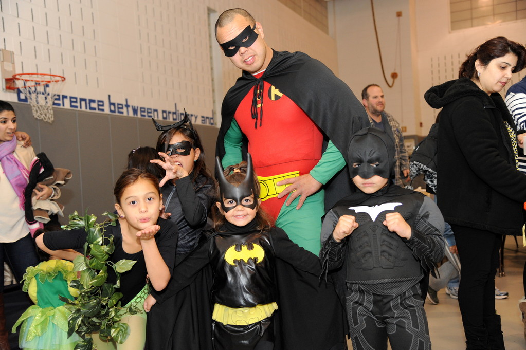 Caped crusaders and villains marched through the Early Childhood Center hallway.