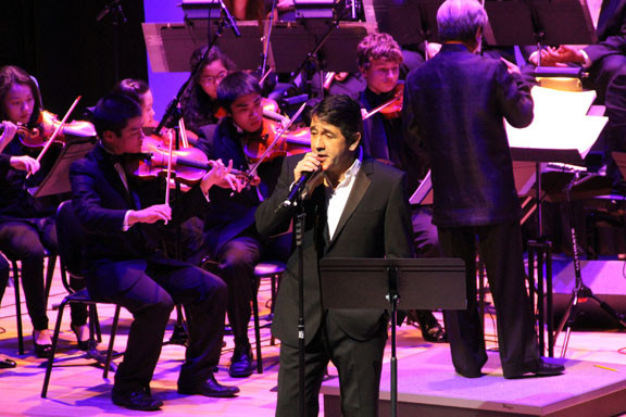 Singer Placido Domingo entertained guests attending the 2012 Molloy Gala at the Madison Theatre.