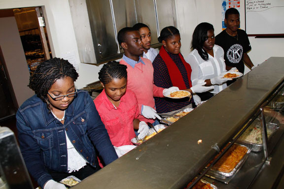 Elmont Key Club students were just a few of the volunteers at the pasta dinner.