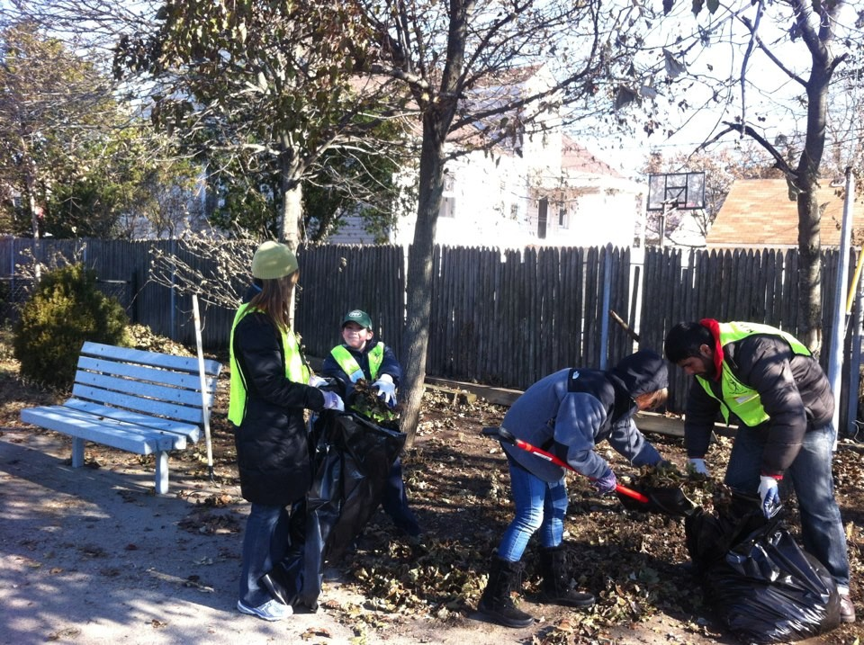 Volunteers removed trash and debris from city streets last weekend.