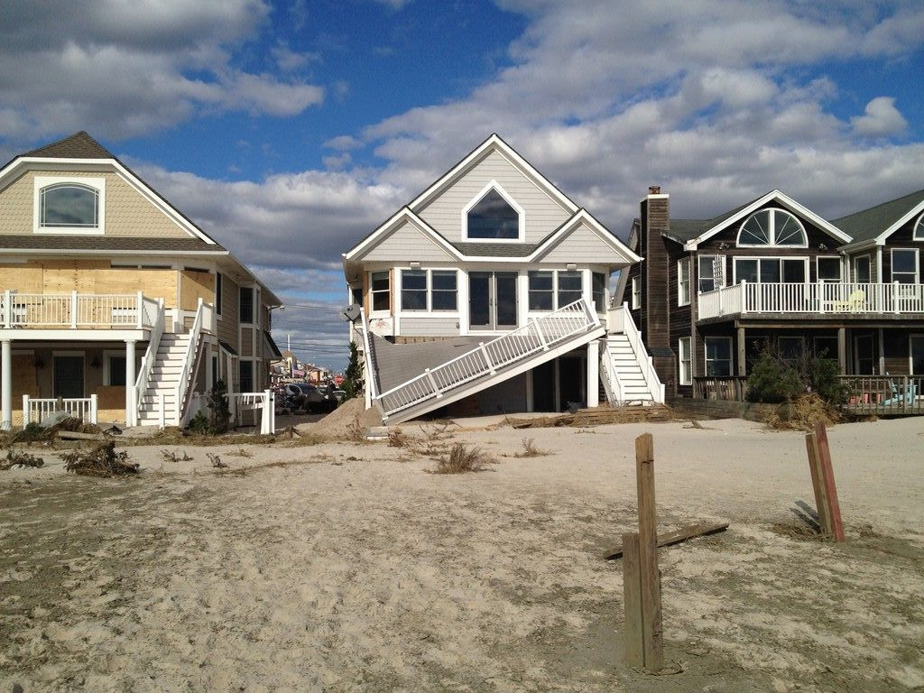 The city's beachfront was decimated by Hurricane Sandy.