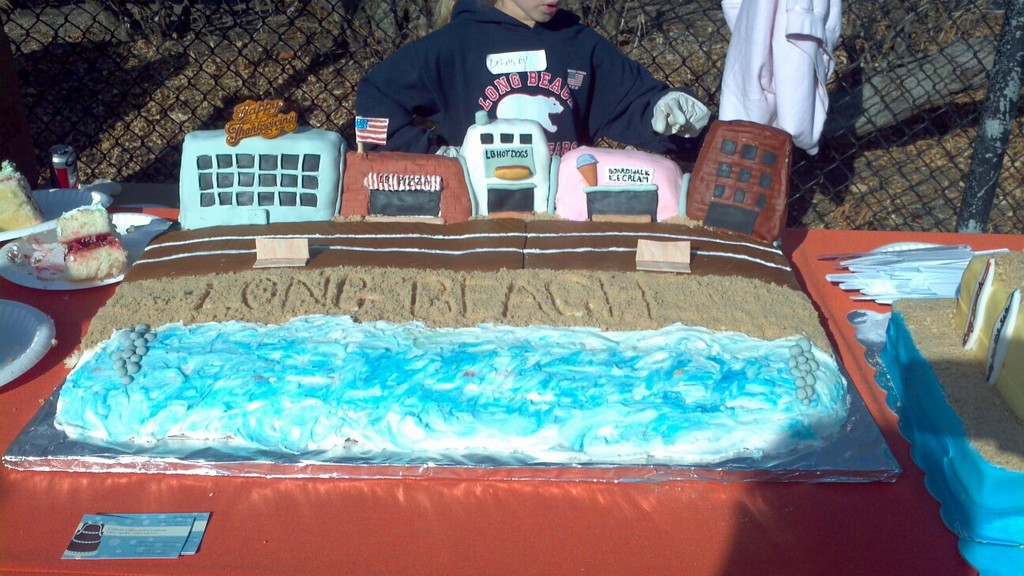 A custom cake symbolizing the city.