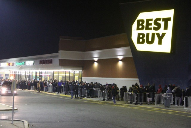 Call it Black Friday or Gray Thursday, people were lined up and hoping for a bargain at Baldwin's Best Buy.
