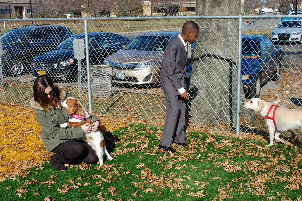 During a stop at the dog park, ToniRaquel and Eddy met a few dogs that were enjoying the day.
