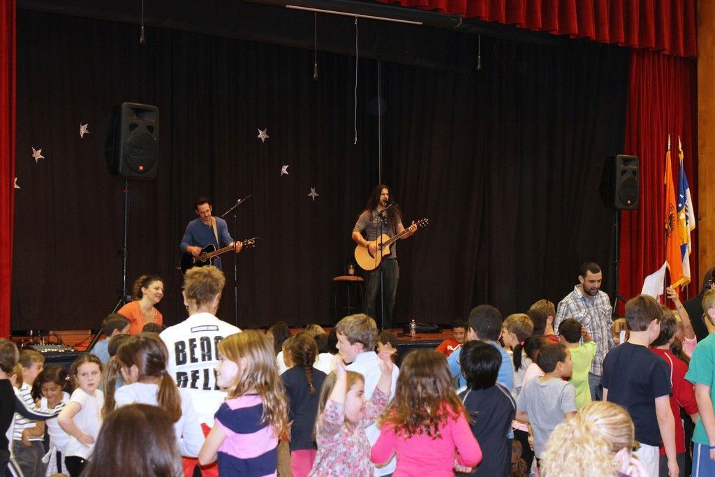 """The Turn"" performed a benefit concert at Watson Elementary to help with Hurricane Sandy recovery, in addition to welcoming new students."
