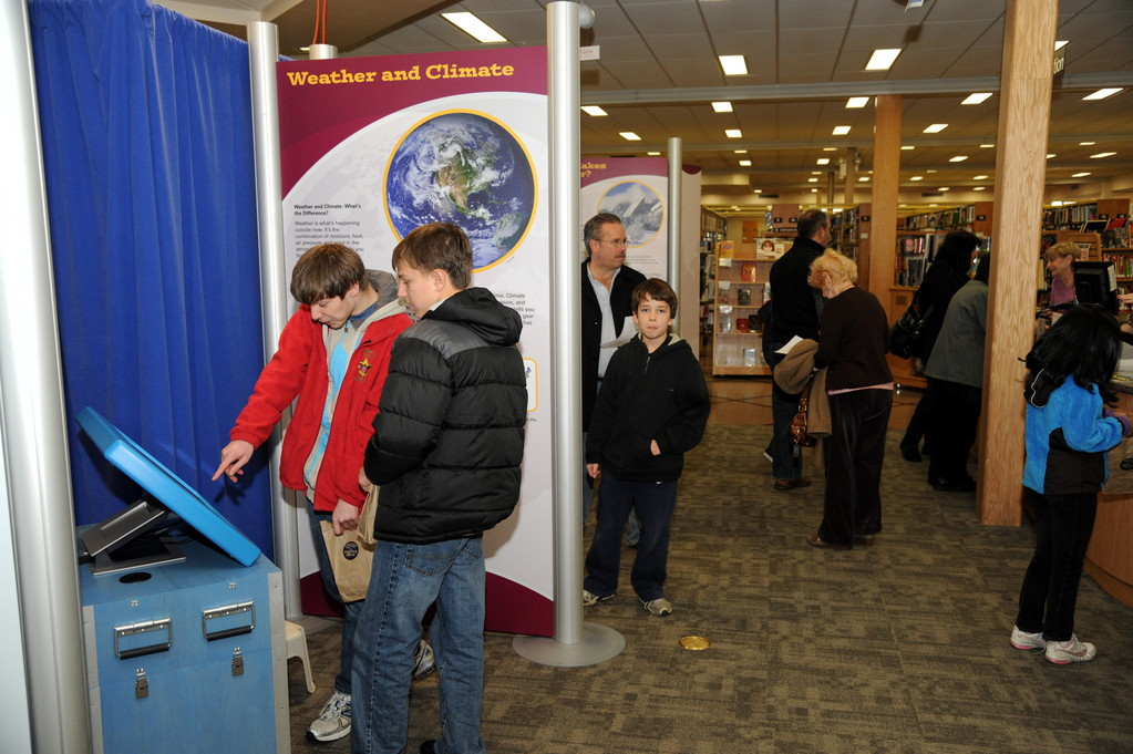 Hundreds of residents visited the East Meadow Public Library last weekend to check out the Discover Earth traveling exhibit. The library was one of just 10 in the country to receive the program.